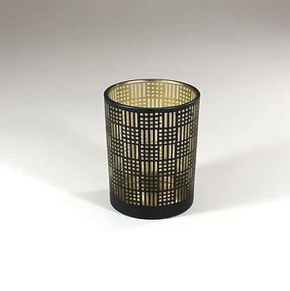2. sortering - Glasstage - All - messing/sort Ø 10 x 13 cm