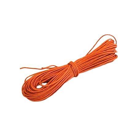 Bomuldstråd m/Voks - Orange - 1,5 mm x 20 m
