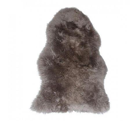 Lammeskind 100% ægte - 95 x 60 cm - Lys grå