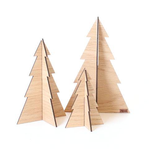 Billede af Felius Design - Juletræer - Egetræ - 3 stk.
