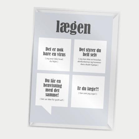 Dialægt- Kort med kuvert - Lægen- A7
