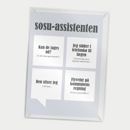 Dialægt- Kort med kuvert - SOSU-assistenten - A7