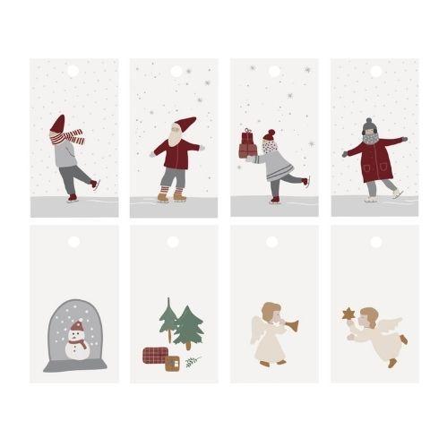 Til og fra kort – Julemotiver – 8 stk