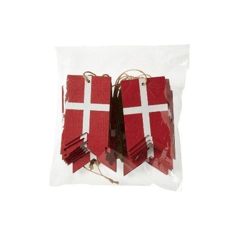 Flag i træ ophæng – 12 stk – B 4 cm x L 6 cm