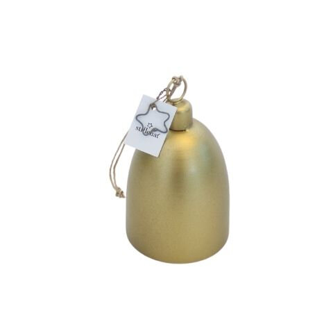 Juleklokke – H 12 cm – Guld