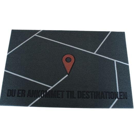 Billede af Dørmåtte - Destinationen - Grå - 60 x 40 cm