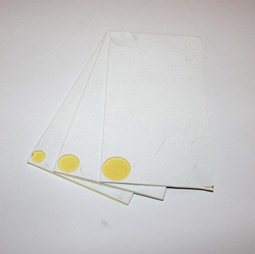 "Selvklæbende filt ""fødder"", 3 ark i 3 størrelser"