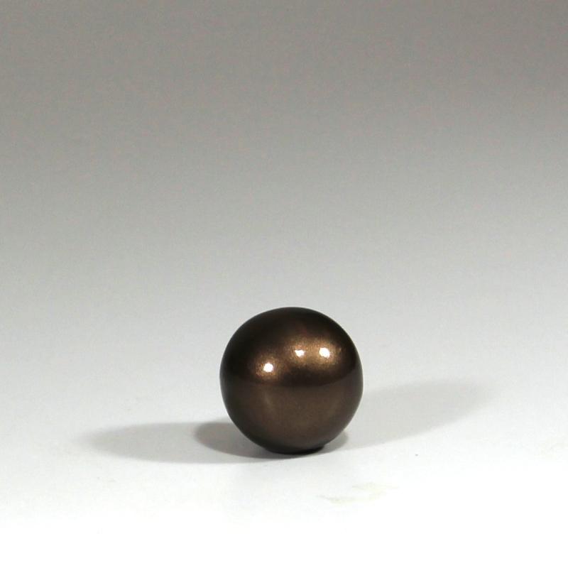 Keramik kugle - Brun 4 cm