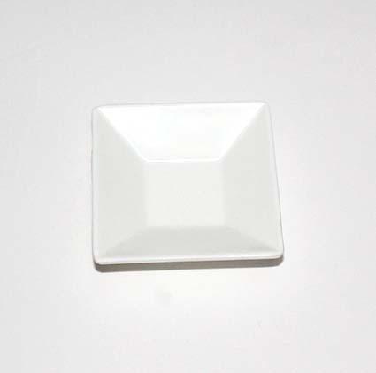 Melamin fad/stage - Hvid 7 cm x 7 cm