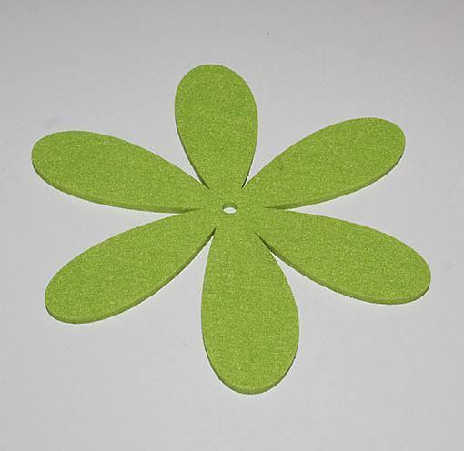 Filtblomst - Flora B - Grøn - Ø 19 cm