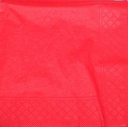 Frokostserviet - 20 stk - 33 cm x 33 cm - Rød
