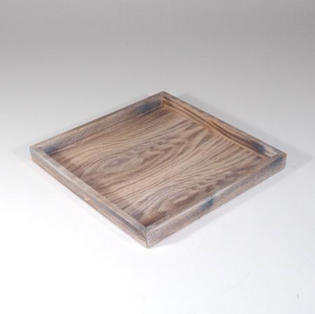 Træbakke - Firkantet med kant - 28 x 28 cm
