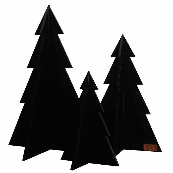 Billede af Felius Design - Juletræer - Sort - 3 stk.
