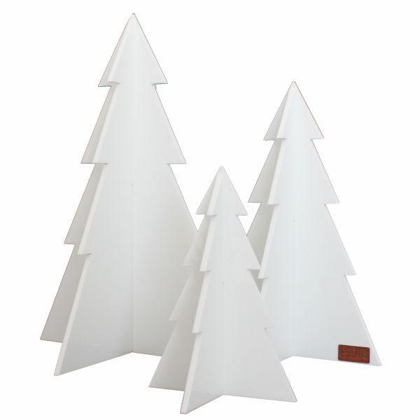 Billede af Felius Design - Juletræer - Hvid - 3 stk.
